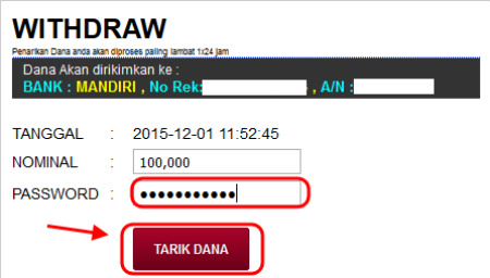 tarik dana withdraw judi online